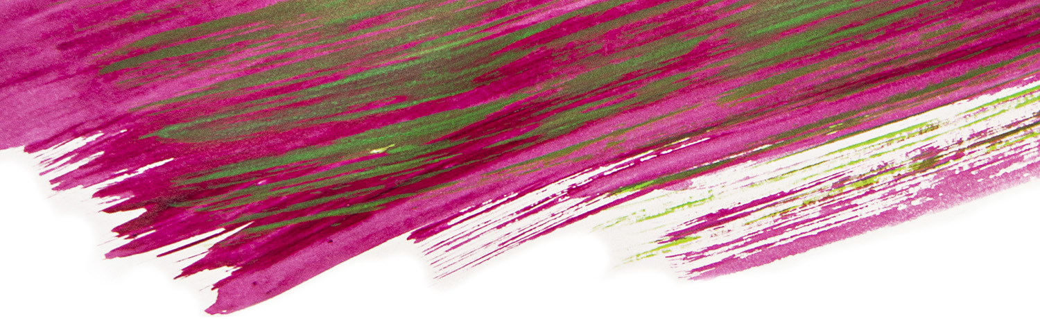 Pink and green paint